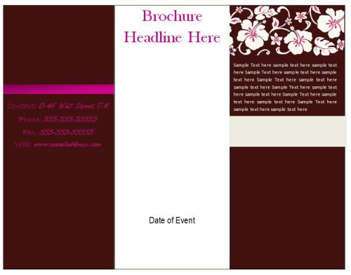 How to design a tri fold brochure arabic guy a lot of small businesses believe they dont have enough funds to employ a professional graphic designer the concept of a printed color brochure is to solutioingenieria Choice Image
