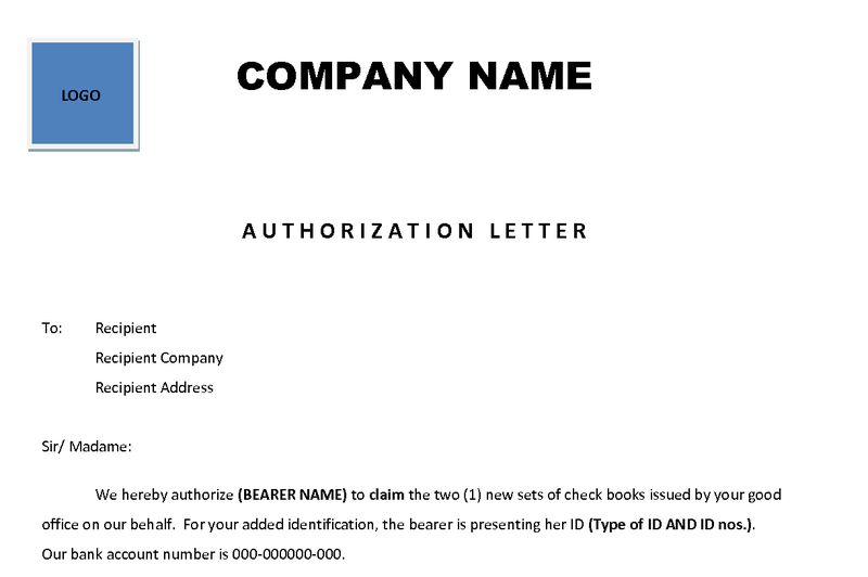 Preparing An Authorization Letter